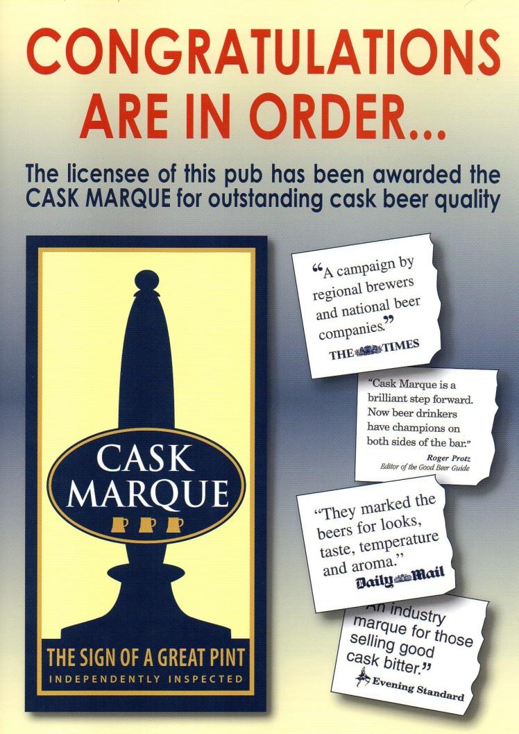 Cask Marque Cert105